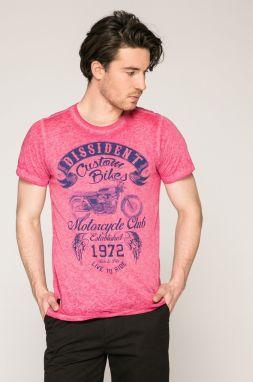 988dba7fdf1e Svetloružové tričko s potlačou číslice Shine Original značky Shine ...