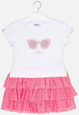 a931add9c1b1 MMDadak Dievčenské šaty Rock Star Girl - bielo-ružové značky MMDadak ...