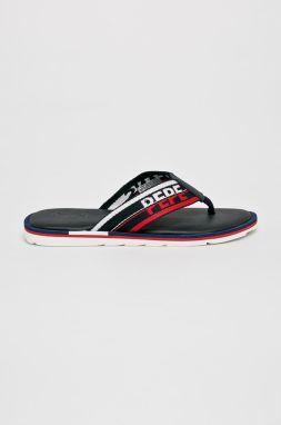 83eafabd396b Tmavomodré pánske žabky s nápisom Pepe Jeans Swimming značky Pepe ...