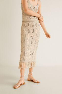 dea9e0e1fa60 Krémová dlhá sukňa s kvetinovou potlačou Vero Moda Oni značky Vero ...