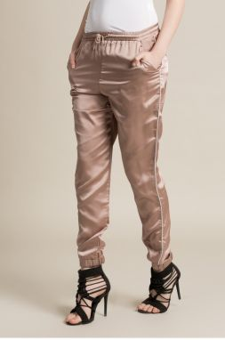 Missguided - Nohavice Satin Cuffed Jogger
