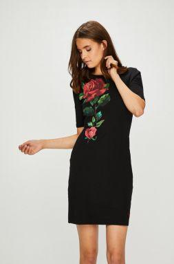 c245baa72c5d Čierne dlhé úpletové šaty Koucla in-sat1146bl - Lovely.sk