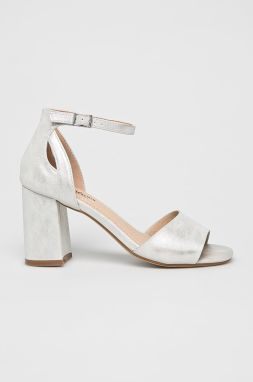 e8df1731255e Sandále na vysokom podpätku v striebornej farbe MISSGUIDED značky ...
