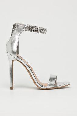 a29455776b81 Sandále v striebornej farbe na vysokom podpätku ALDO Milaa značky ...