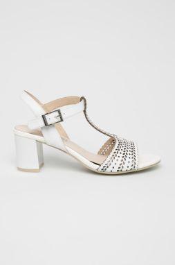 66b117d38 Strieborné sandále na ihličkovom podpätku značky Baťa - Lovely.sk