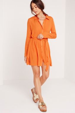Missguided - Šaty Cheesecloth Shirt Dress