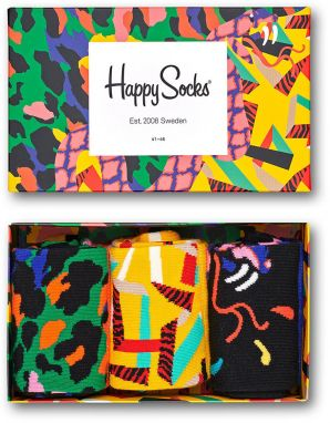 Happy Socks - Ponožky Abstract Animal Gift Box (3 pak)
