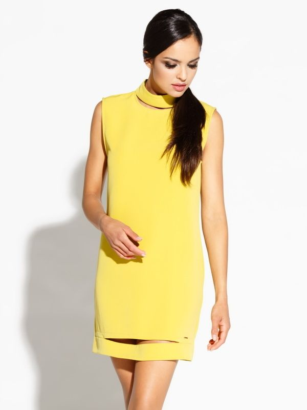 Dursi Dámske šaty DRESS 081 YELLOW LEMON