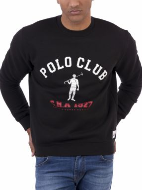 Polo Club Captain Horse Academy Pánska mikina 22690_NEGRO / BLACK