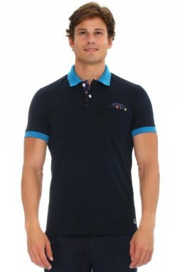 Galvanni Pánske polo tričko Taani Dress Blues Multi