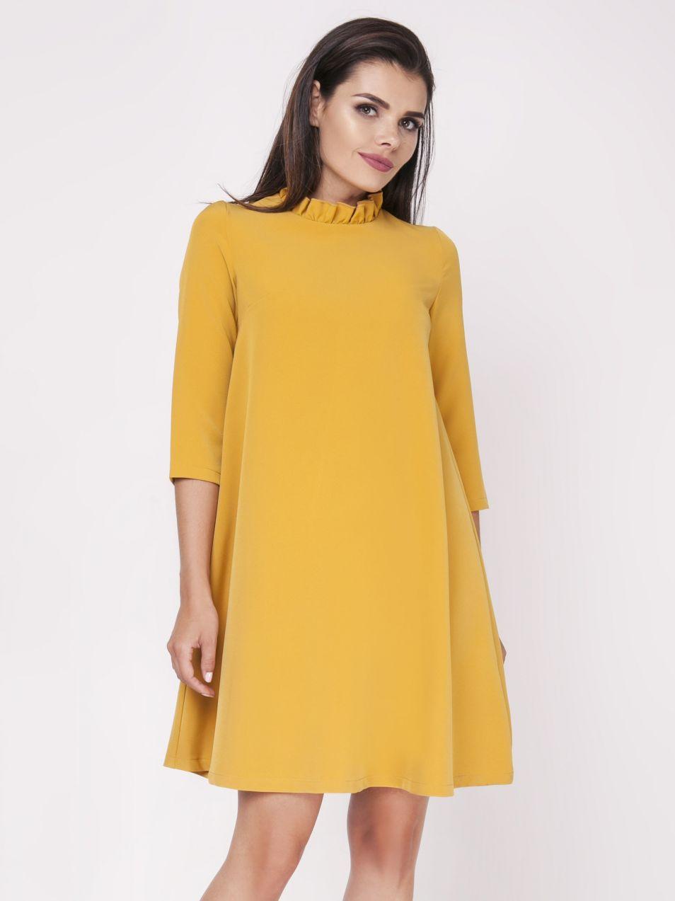9cff720ba942 Foggy Dámske šaty FG113 CAMEL značky Foggy - Lovely.sk