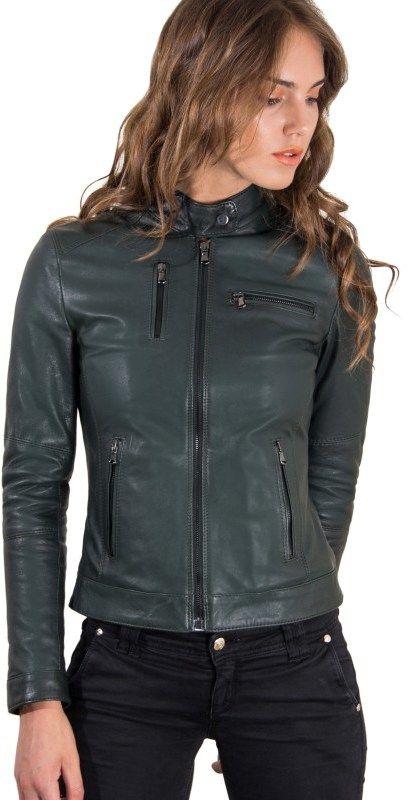 D Arienzo Dámska kožená bunda .0240-VERDE značky D Arienzo - Lovely.sk cc53b22b8be