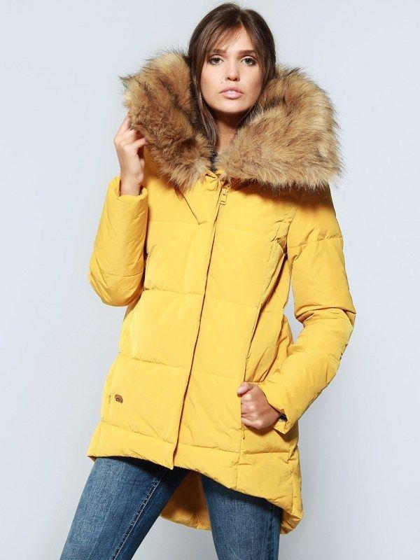 Diverse Dámska zimná bunda 10028345 Yellow značky Diverse - Lovely.sk dc261bc0a16