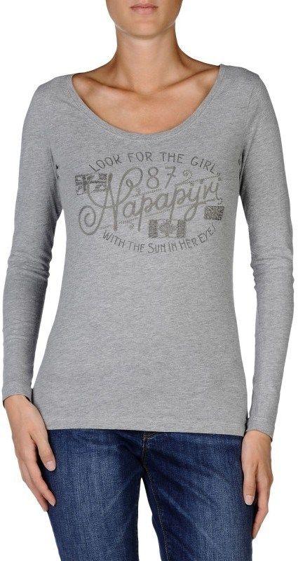 48bd2d522a73 Napapijri Dámske tričko SMIRALE M GREY značky Napapijri - Lovely.sk