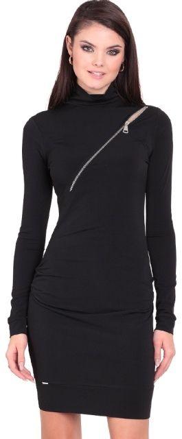 094c26ef795e Eidos Dámske šaty DRESS 108 KIM BLACK ZIPP značky Eidos - Lovely.sk