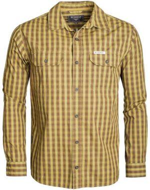 05f4bcdd8 Modrá pánska kockovaná menčestrová košeľa BUSHMAN Zap značky Bushman ...