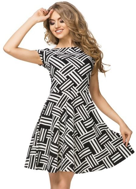 806da2001 Tessita Dámske šaty T183 / 4_Black and white weave značky Tessita ...