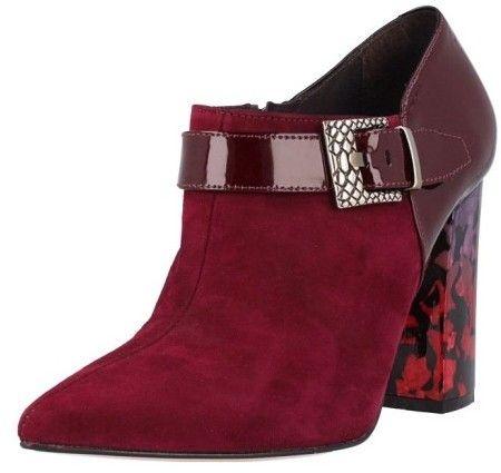 e4b7a384af7 El Dantes Členkové topánky na podpätku D16579-49 BURGUNDI značky El Dantes  - Lovely.sk