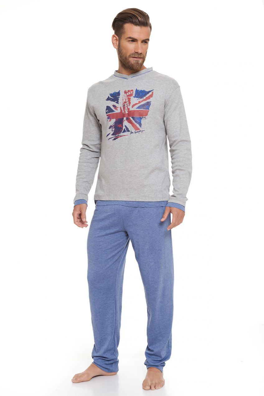 58c61cd9e8 Lee Cooper Pánske pyžamo LCMHW001020 LIGHT GREY MELANGE značky Lee Cooper -  Lovely.sk