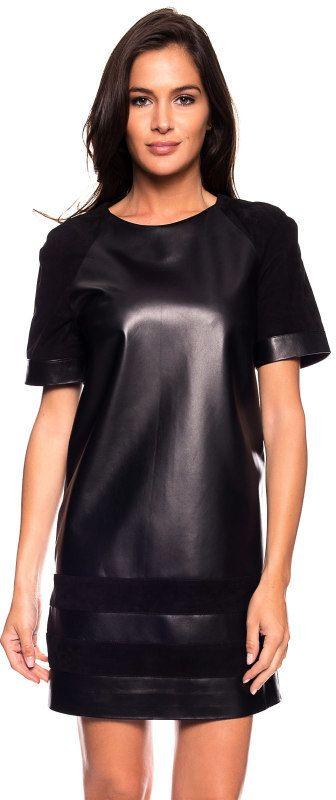 3061378ed9 Giorgio Dámske kožené šaty MAGDA WAXY NOIR značky Giorgio - Lovely.sk