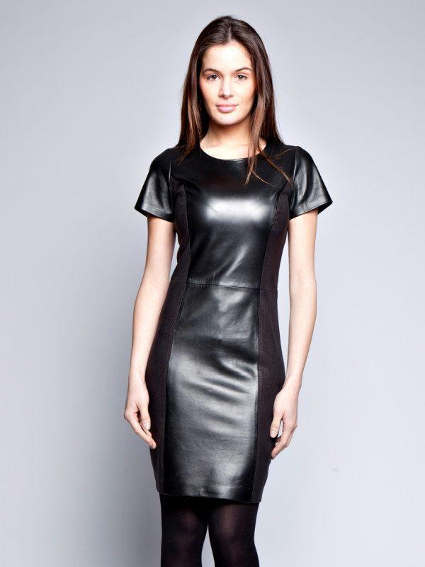 f0a791251b Giorgio Dámske kožené šaty MINA NOIRVIP značky Giorgio - Lovely.sk