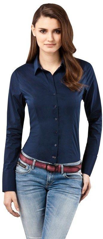00986822e06d Vincenzo Boretti Dámska slim fit košeľa 10010738 dark blue značky Vincenzo  Boretti - Lovely.sk
