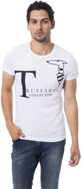 Trussardi Collection Pánske tričko M5 CODIGORO_Bianco / White