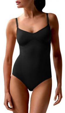 Controlbody Tvarujúci body bez výstuže BODY WITH FINE STRAPS 510117 FIRM COMPRESSION BLACK