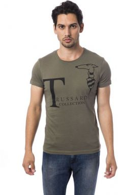 Trussardi Collection Pánske tričko M5 CODIGORO_Verde Mil / Ml. Green