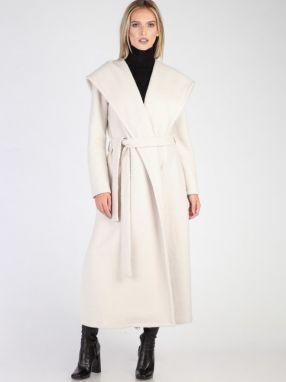 Carla by Rozarancio Dámsky dlhý vlnený kabát CR18F P3139 ICE 0008ee2cf76