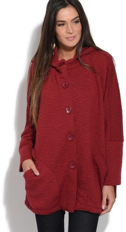 Bella Blue Dámsky kabát 308H2297 ORANGE značky Bella Blue - Lovely.sk 9c1a99e6810