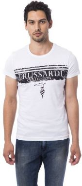 Trussardi Collection Pánske tričko M1 ARGENTA_Bianco / White