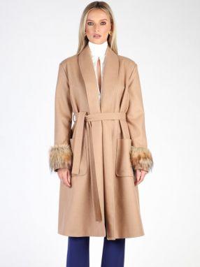 Carla by Rozarancio Dámsky vlnený kabát abb85f03e55
