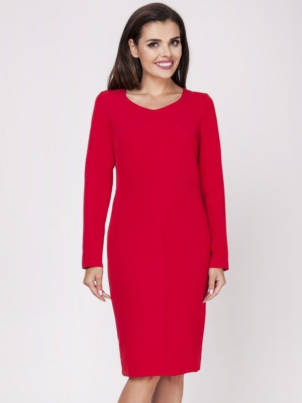 7906d6673db6 Foggy Dámske šaty FG120 RED značky Foggy - Lovely.sk