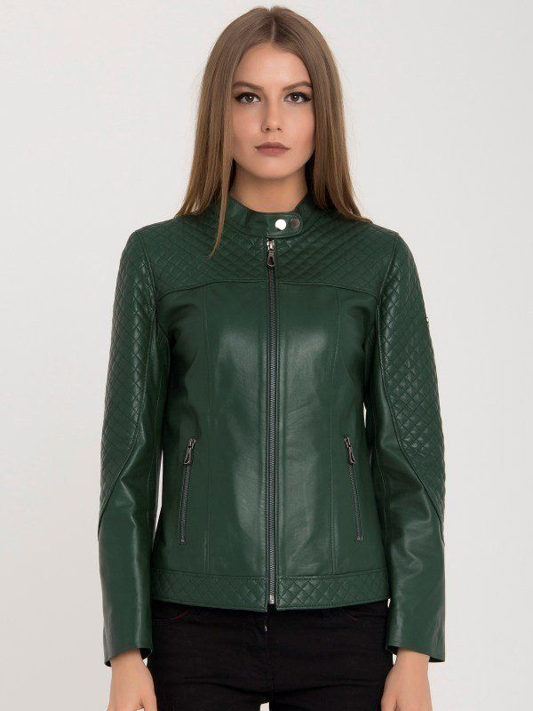 Iparelde Dámska kožená bunda BYUNA Green značky Iparelde - Lovely.sk e10933f0802