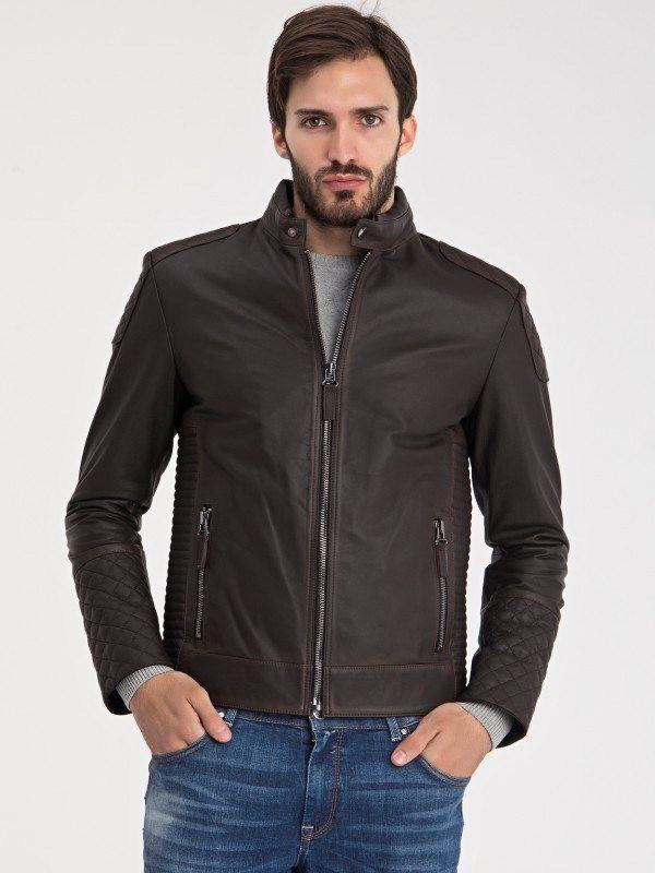 Iparelde Pánska kožená bunda E1015 Brown Tafta značky Iparelde - Lovely.sk 641eb42d87