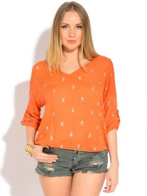 Couleur Lin Dámsky top 6774 - TOP DIANA P20546 ORANGE