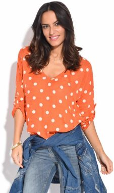 100% Lin Dámsky top 6738 - TOP VENISE P2054 ORANGE