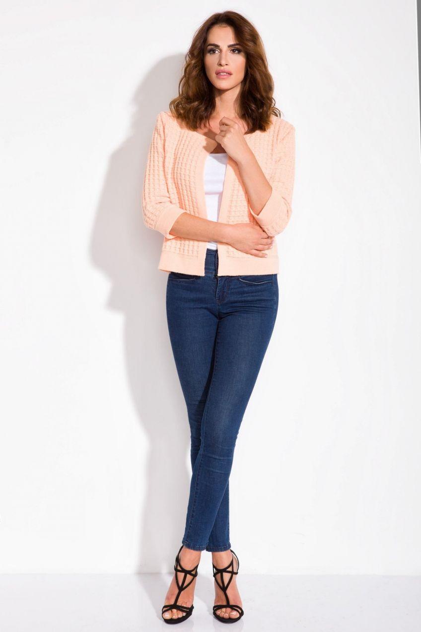 6cd1067d3e0d Fimfi Dámsky sveter I113 Apricot značky Fimfi - Lovely.sk