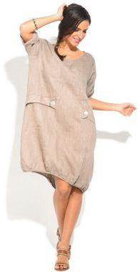 Lin Nature Dámske šaty 6743 - ROBE MICHELLE P16683 TAUPE