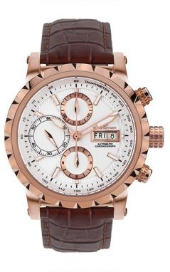Mathis Montabon Pánske hodinky MM-25 Le Chronograph Rosegold weiss