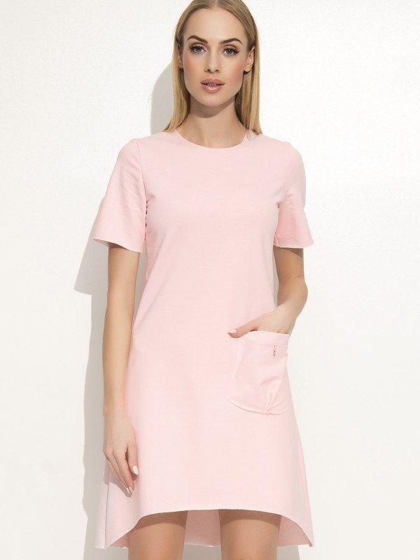 80116b3948d1 Makadamia Dámske šaty m360 powder pink značky Makadamia - Lovely.sk