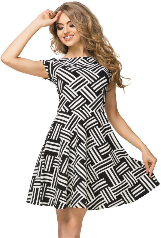 8e0fa9e799a4 Tessita Dámske šaty T183 4 Black and white weave značky Tessita ...