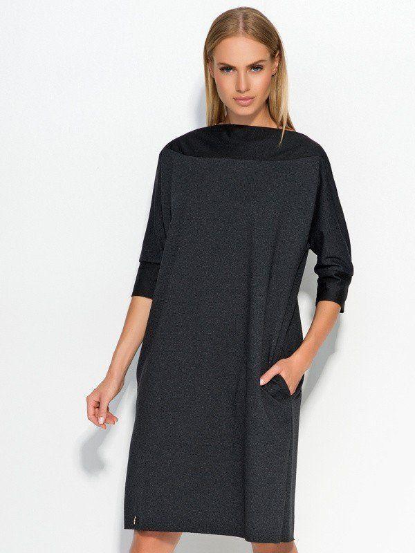 cea3a1d75bb0 Makadamia Dámske šaty m317 graphite melange značky Makadamia - Lovely.sk