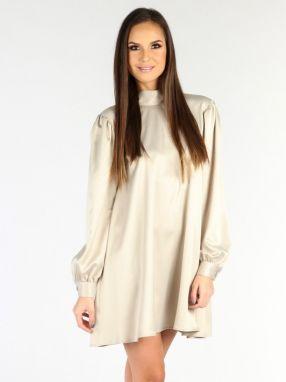 Béžové šaty do práce - Lovely.sk 24b59ffbe36