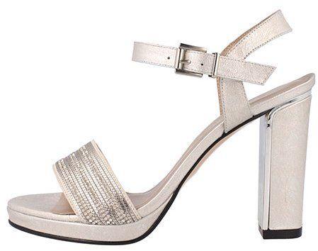 b1450aadfbf5f El Dantes Dámske sandále na podpätku D16160-43WHITE značky El Dantes -  Lovely.sk