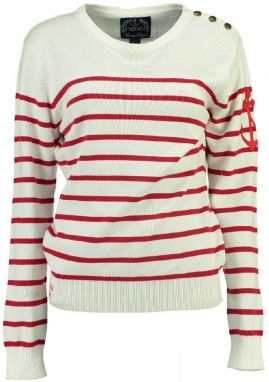 Geographical Norway Dámsky sveter Figui lady 224_Off white / red