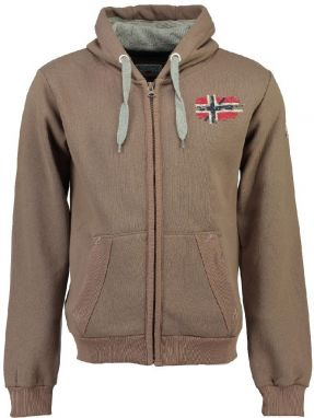 Geographical Norway Pánska mikina glacier men 100_Taupe