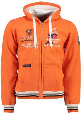 Geographical Norway Pánska mikina Grenouille MEN 100_Orange