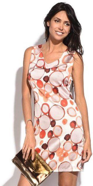 926de6b53a4d Assuili Dámske šaty 6873 - Clarissa BLANC   ORANGE značky Assuili -  Lovely.sk